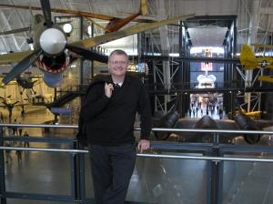 a P-51, me, a SR-71 and the USS ENTERPRISE (space shuttle)