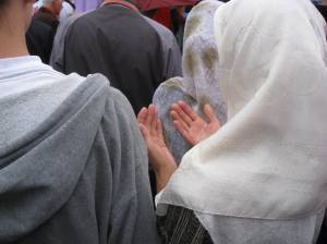 mothers, daughters, wives, sisters, cousins, friends... they held out praying hands