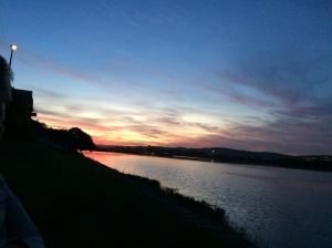 sunset on the Hartenbos