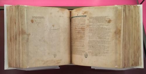 Codex Vaticanus (350ish AD - facsimile in Bible Museum, D. C.)